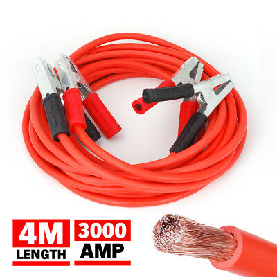 Heavy Duty 4M 3000AMP Jumper Leads Battery Start Starter Booster Cable Car Truck