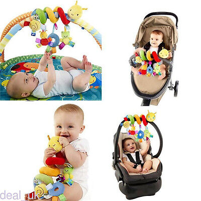 Newborn Infant Baby Rattles Bed Plush Toy Spiral Hanging Decoration Toy dl99
