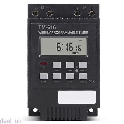 30A Time Relay 7 Days Programmable Digital Timer Switch Control Time 12V dl99
