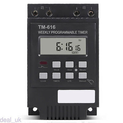 Electronic Weekly Programmable Digital Timer Switch Time Relay Control 220V dl99