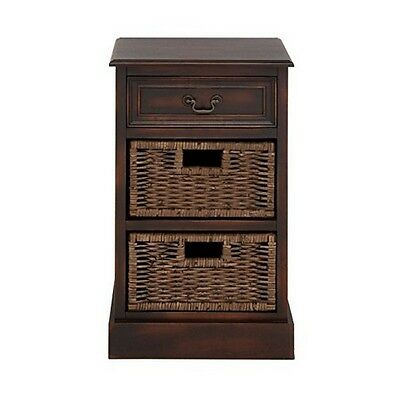 Deco 79 96250 Wood 2-Basket Stand 16 by 28-Inch NEW