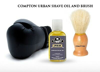 Compton  Ultimate Shave Oil 30 Ml And Brush Combo (Urban) 2017