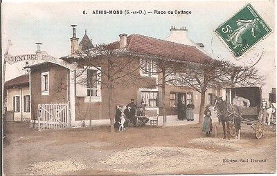 CPA -  Athis-Mons -  Place du Cottage -1908