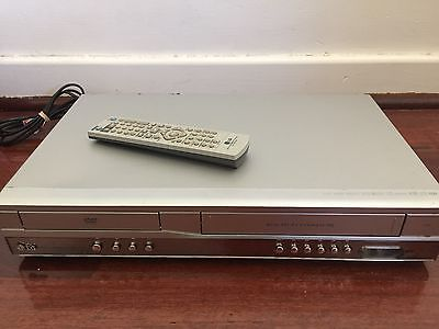 LG V181 6 Head VCR + DVD Player Combo With Remote Works Great