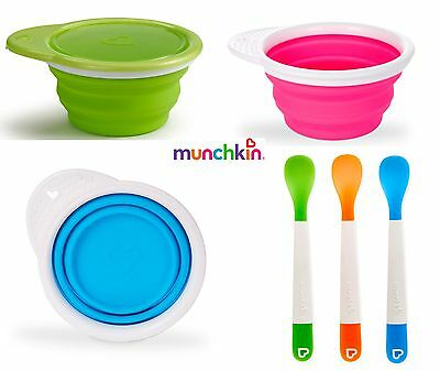 Munchkin Go Bowl, Baby Weaning Bowl, Baby Travel Bowl, Munchkin Lift Baby Spoons