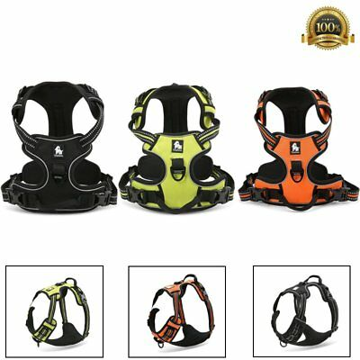 No-pull Pet Dog Harness Reflective Outdoor Adventure Pet Vest Padded Handle 3M
