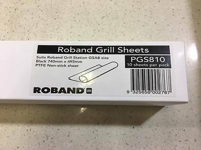 Roband Grill Station Sheets 10pk PGS810 PTFE Non-Stick suits GSA810 GSA815