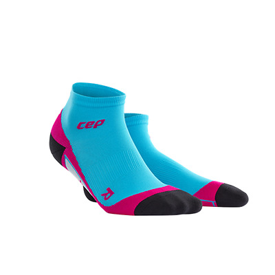Compressport CEP Low Cut Run Socks Blue/Pink for Health, Fitness & Sports Perfor