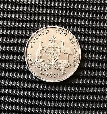 1931 florin About EF*free Post* .925 Silver