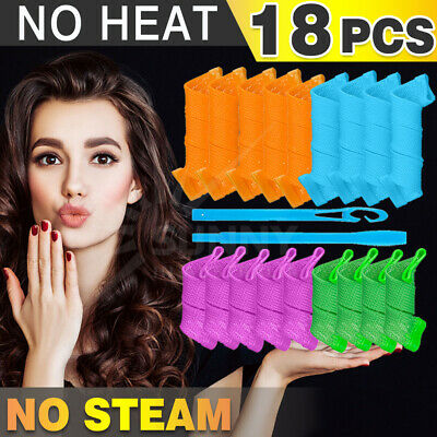 Magic Hair Curler No Heat 18PCS Leverage Curlers Formers Spiral Styling Rollers