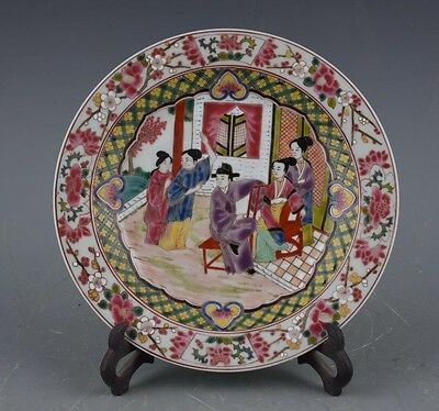 Chinese Hand-painted Character story Famille-rose  Porcelain plate