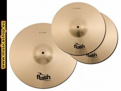 Set kit Piatti FLASH per batteria acustica hi hat + crash
