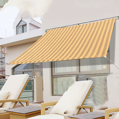 Unique Outdoor Garden Yard Sun Shade Sail Awning Canopy UC913 (2 Size, 6 Color)