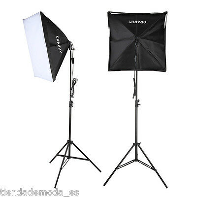 Craphy 700W Illuminazione Set Studio Foto Lampada Flash Kit Softbox + Base+Borsa