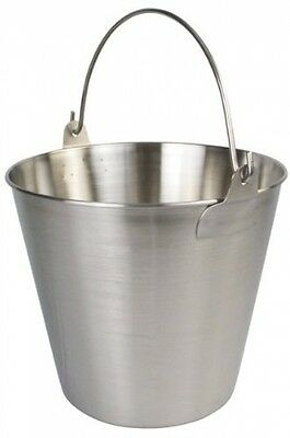 Winco UP-13 Stainless Steel Utility Pail, 13-Quart