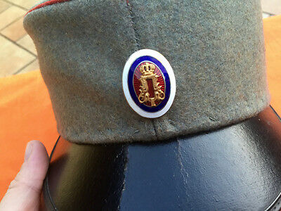Kingdom of Serbia WWI Army Officer Hat combat uniform cockade old antique order
