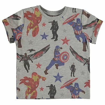 Marvel Niños Civil War Camiseta Top Infantiles Cuello Redondo Manga Corta