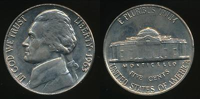 United States, 1963-P 5 Cents, Jefferson Nickel - Uncirculated