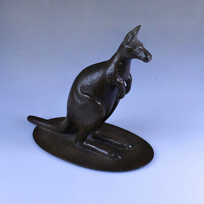 Rare Antique Australian Bronze Kangaroo figure on base, Stokes & Sons c.1910s