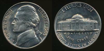 United States, 1965-P 5 Cents, Jefferson Nickel - Uncirculated