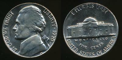 United States, 1970-D 5 Cents, Jefferson Nickel - Uncirculated