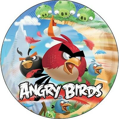Angry Birds Edible Kids Birthday Cake Icing Sheet Topper Decoration Round Images