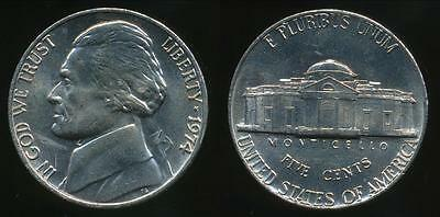 United States, 1974-P 5 Cents, Jefferson Nickel - Uncirculated