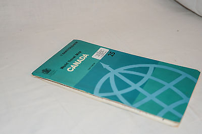 CANADA Bartholomew World Travel Map, Vintage 1983