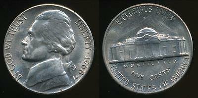 United States, 1968-S 5 Cents, Jefferson Nickel - Uncirculated