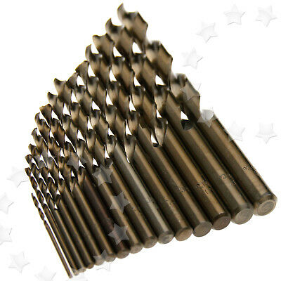 15 Pieces HSS-Co High Speed Steel 5% M35 Cobalt Drill Bit 1.5-10MM AU Stock