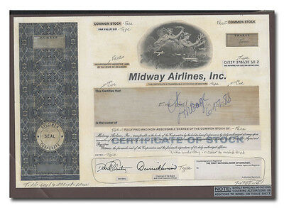 Midway Airlines, Inc. Production Folio - American Bank Note Archives