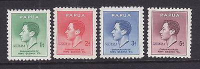 Papua: 1937 Coronation Set Of 4  Sg:154-7   Muh.