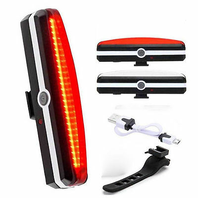USB Rechargeable LED Bicycle Bike Cycling Front Rear Tail Light 6 Modes Lamp ky