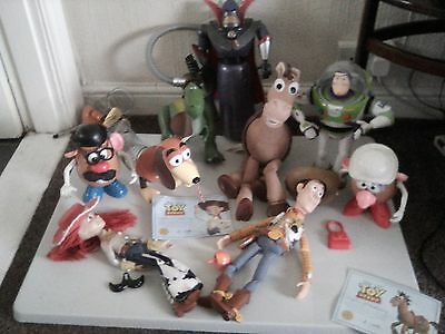 Large Collection of Full Size Toy Story Figures All Working Buzz, Woody, Rex,