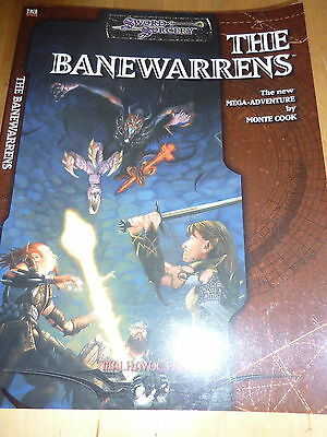 Sword & Sorcery The Banewarrens Mega-Adventure Book By Monte Cook D20 Level 6-10