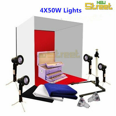 Photography Studio Softbox Lighting Cube Tent Camera Stand Soft Box Backdrop Kit