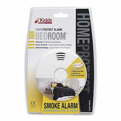 Kidde 10 Year Sealed HomeProtect Voice Alert Bedroom Fire Smoke Alarm Detector