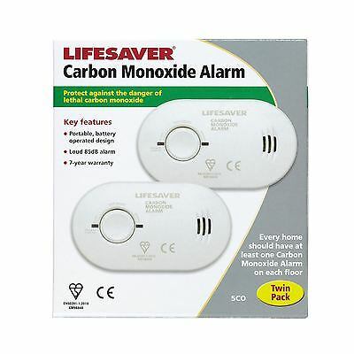 Kiddie Carbon Monoxide CO Alarm Detector Twin Pack 5COTLSB - Batteries Included