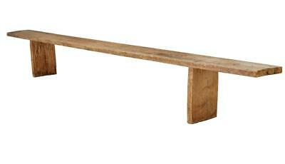 Long 19Th Century Swedish Pine 12Ft Bench