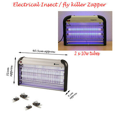 New 10Watt 2 Tube Electrical Ultra Voilet Insect Fly Mosquito Killer Zapper