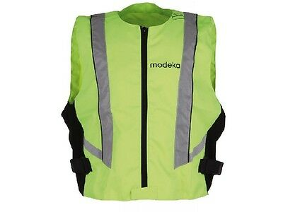 Modeka High visibility vest 3XL neon yellow Motorcycle Safety vest Reflector
