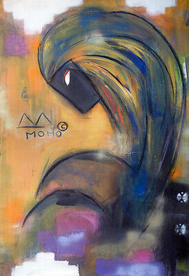 Boa Virgin - Original  - Momo - Caribbean Expressionism - Basquiat Old School