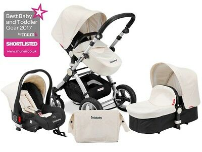 INFABABY EVO BLACK AND CHAMPAGNE 2017 MODEL 3in1 BABY TRAVEL SYSTEM
