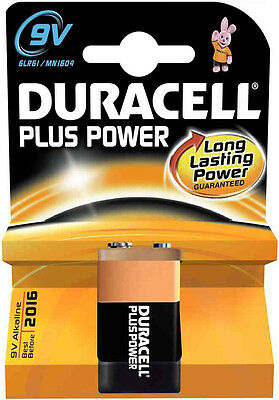 [Ref:4063099-2] DURACELL Lot de 2 Piles Plus Power MN1604 9V blister de 1