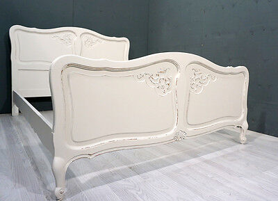 Vintage French Bed / Shabby Chic / Double Bed (BR238)