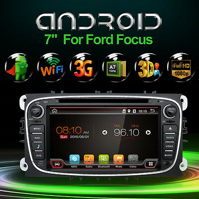 Android6.0 Quad Core 2 DIN GPS Navigation Car Stereo DVD Player For Ford Focus