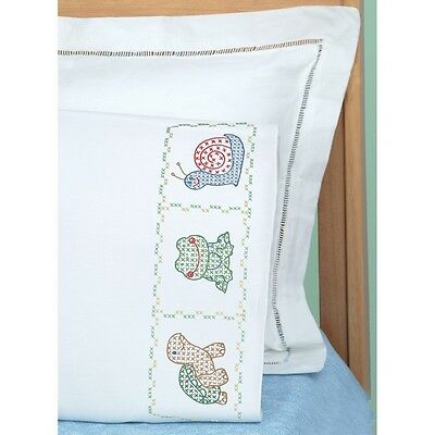 Children's Stamped Pillowcase W/White Perle Edge 1/Pkg-Froggy NEW