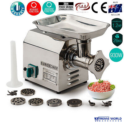 MG950 Commercial 1.2HP Electric Stainless Steel Meat Grinder