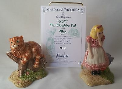 Royal Doulton  Beswick Ware The Cheshire Cat(Lc003) And Alice (Lc002) No. 2018