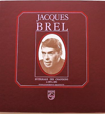 Jacques Brel Integrale De Chansons De 1945 A 1962 5 Lp Box Mint-